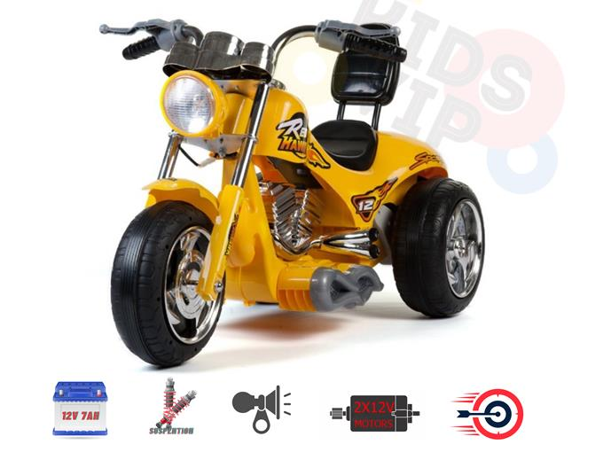 New Super Chopper Red Hawk Motors 12V Kids Ride On Motorcycle for Kids