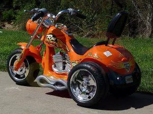 kids ride on motorcycle 12v hawk bmw orange 12