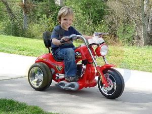 kids ride on motorcycle 12v hawk bmw red 1