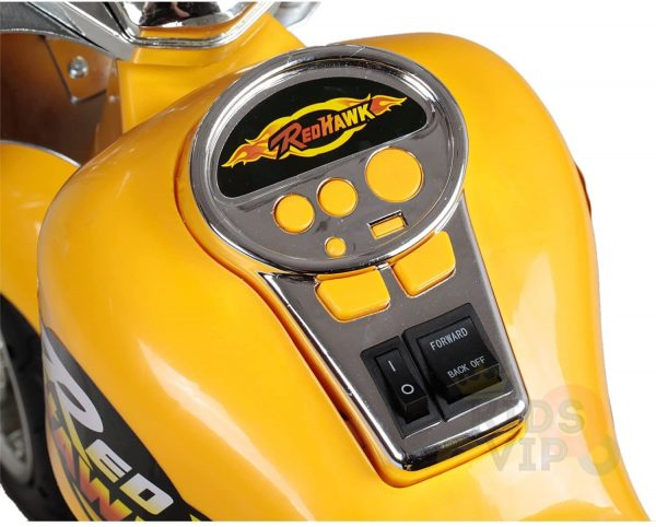 kids ride on motorcycle 12v hawk bmw yellow 11