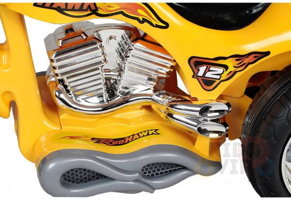kids ride on motorcycle 12v hawk bmw yellow 12