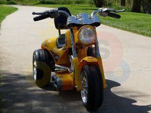 kids ride on motorcycle 12v hawk bmw yellow 14