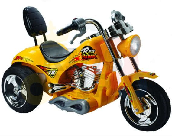 kids ride on motorcycle 12v hawk bmw yellow 3