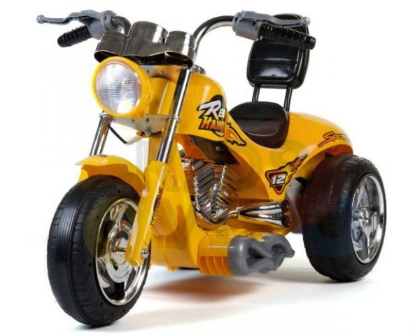 kids ride on motorcycle 12v hawk bmw yellow 4