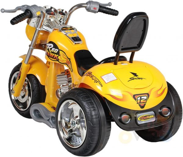 kids ride on motorcycle 12v hawk bmw yellow 5