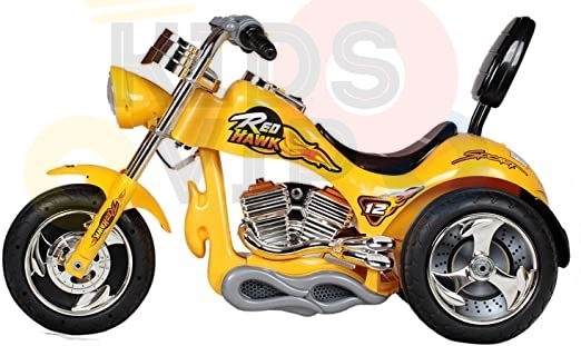 kids ride on motorcycle 12v hawk bmw yellow 7