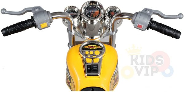 kids ride on motorcycle 12v hawk bmw yellow 8