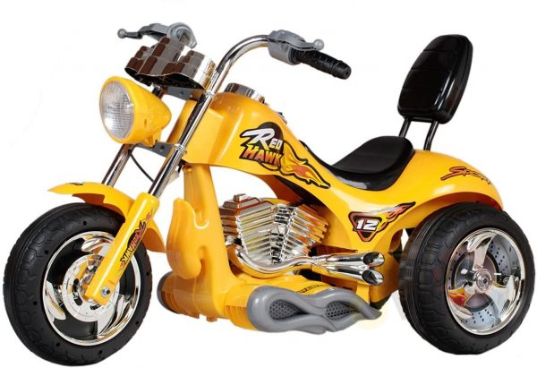 kids ride on motorcycle 12v hawk bmw yellow 9