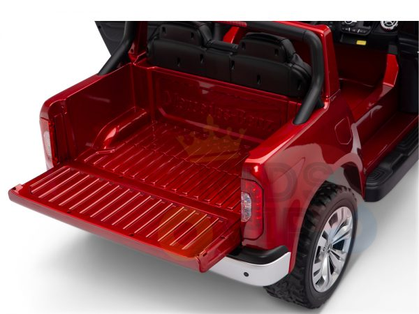 kidsvip mercedes x kids and toddlers ride on car truck 2x12v batteries red 11 1