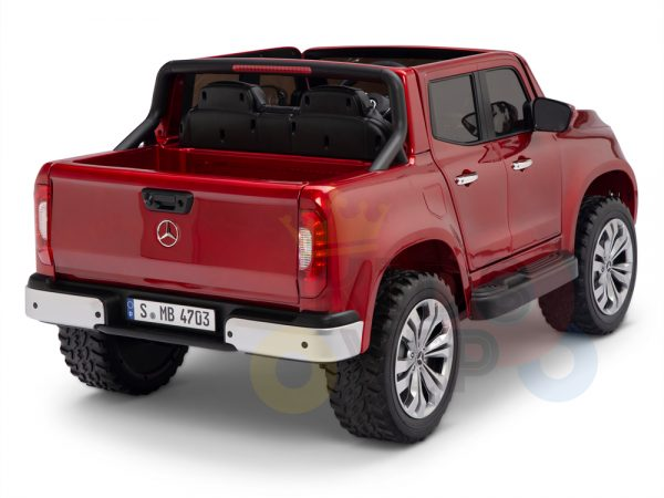 kidsvip mercedes x kids and toddlers ride on car truck 2x12v batteries red 13 1