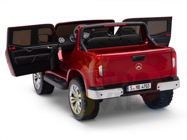 kidsvip mercedes x kids and toddlers ride on car truck 2x12v batteries red 16