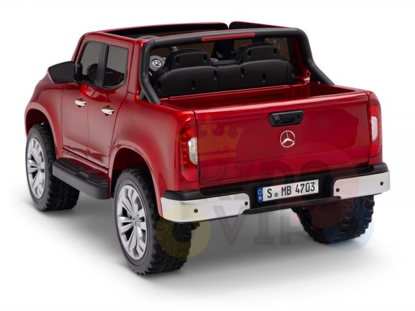 kidsvip mercedes x kids and toddlers ride on car truck 2x12v batteries red 17