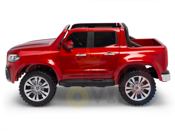 kidsvip mercedes x kids and toddlers ride on car truck 2x12v batteries red 18