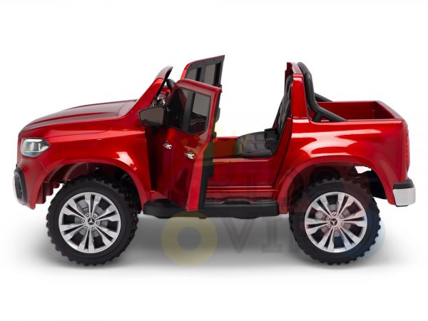 kidsvip mercedes x kids and toddlers ride on car truck 2x12v batteries red 19