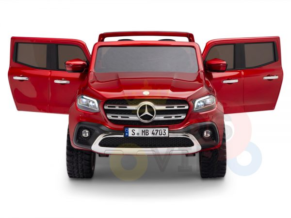 kidsvip mercedes x kids and toddlers ride on car truck 2x12v batteries red 2 1