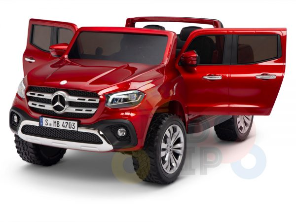 kidsvip mercedes x kids and toddlers ride on car truck 2x12v batteries red 20 1