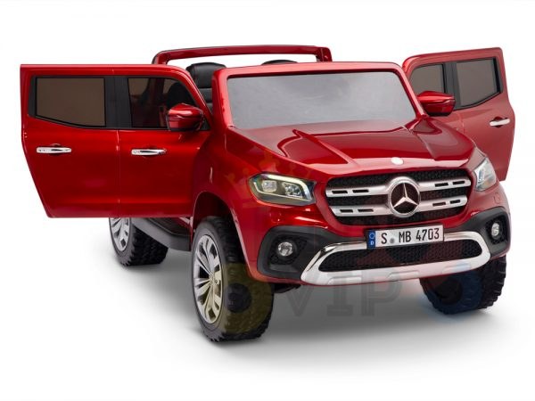 kidsvip mercedes x kids and toddlers ride on car truck 2x12v batteries red 4 1