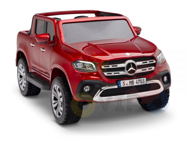 kidsvip mercedes x kids and toddlers ride on car truck 2x12v batteries red 5 1