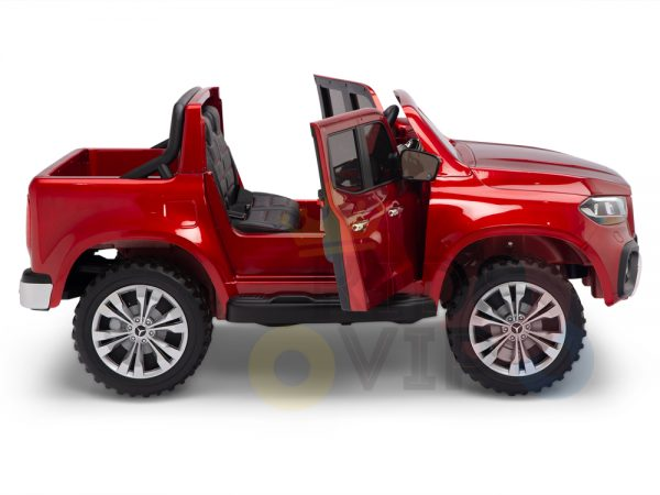 kidsvip mercedes x kids and toddlers ride on car truck 2x12v batteries red 7 1