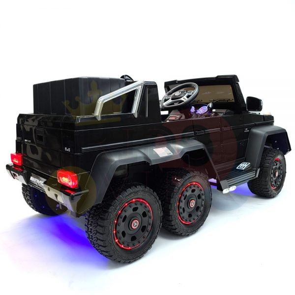 kidsvip 6x6 mercedes g63 ride on heavy duty ride on truck rubber wheels kids toddlers black 14