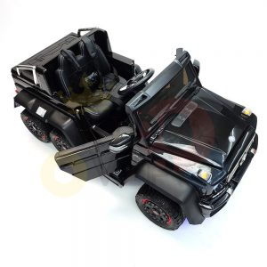 kidsvip 6x6 mercedes g63 ride on heavy duty ride on truck rubber wheels kids toddlers black 18