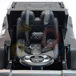 kidsvip 6x6 mercedes g63 ride on heavy duty ride on truck rubber wheels kids toddlers black 25