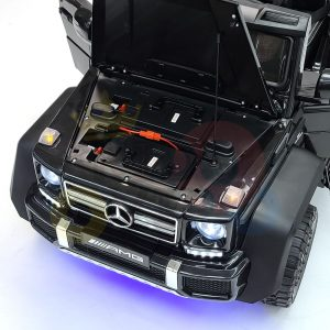 kidsvip 6x6 mercedes g63 ride on heavy duty ride on truck rubber wheels kids toddlers black 30
