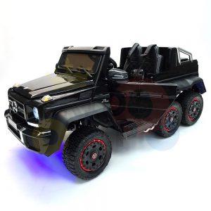 kidsvip 6x6 mercedes g63 ride on heavy duty ride on truck rubber wheels kids toddlers black 36