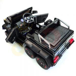 kidsvip 6x6 mercedes g63 ride on heavy duty ride on truck rubber wheels kids toddlers black 38