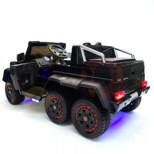 kidsvip 6x6 mercedes g63 ride on heavy duty ride on truck rubber wheels kids toddlers black 40