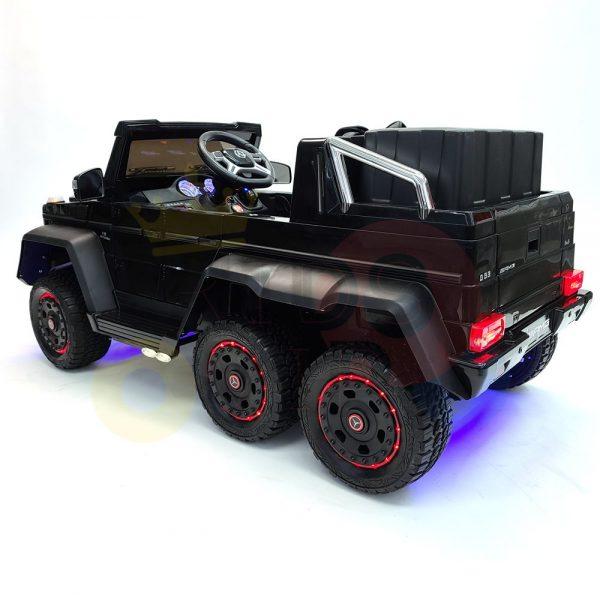 kidsvip 6x6 mercedes g63 ride on heavy duty ride on truck rubber wheels kids toddlers black 42