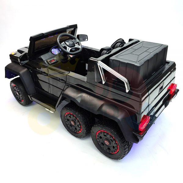 kidsvip 6x6 mercedes g63 ride on heavy duty ride on truck rubber wheels kids toddlers black 43