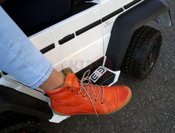 kidsvip 6x6 mercedes g63 ride on heavy duty ride on truck rubber wheels kids toddlers black 46