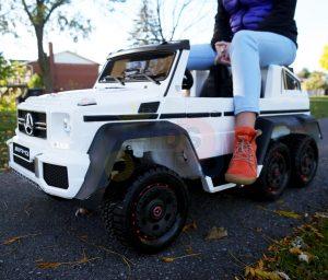 kidsvip 6x6 mercedes g63 ride on heavy duty ride on truck rubber wheels kids toddlers black 47