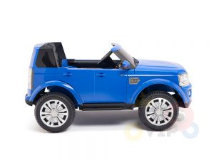 land rover discovery 2 seater kids toddlers ride na track car 12v rubber wheels leather rc blue 11