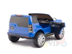 land rover discovery 2 seater kids toddlers ride na track car 12v rubber wheels leather rc blue 13