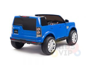 land rover discovery 2 seater kids toddlers ride na track car 12v rubber wheels leather rc blue 17