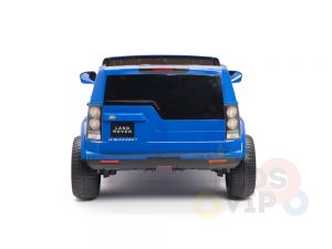 land rover discovery 2 seater kids toddlers ride na track car 12v rubber wheels leather rc blue 19