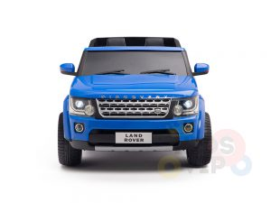land rover discovery 2 seater kids toddlers ride na track car 12v rubber wheels leather rc blue 2