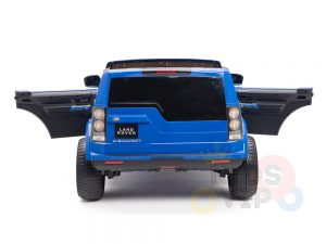 land rover discovery 2 seater kids toddlers ride na track car 12v rubber wheels leather rc blue 20