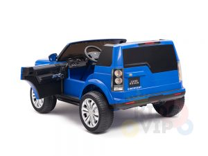 land rover discovery 2 seater kids toddlers ride na track car 12v rubber wheels leather rc blue 21