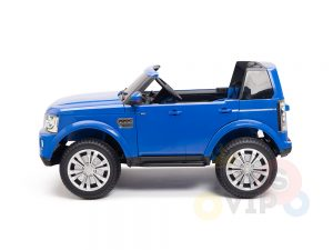 land rover discovery 2 seater kids toddlers ride na track car 12v rubber wheels leather rc blue 23