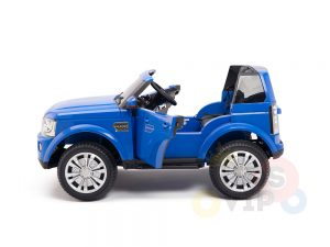 land rover discovery 2 seater kids toddlers ride na track car 12v rubber wheels leather rc blue 24