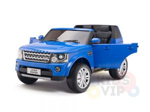 land rover discovery 2 seater kids toddlers ride na track car 12v rubber wheels leather rc blue 25
