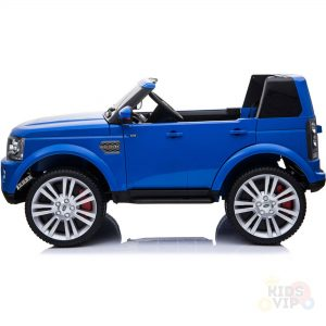 land rover discovery 2 seater kids toddlers ride na track car 12v rubber wheels leather rc blue 30