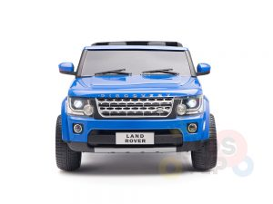 land rover discovery 2 seater kids toddlers ride na track car 12v rubber wheels leather rc blue 34