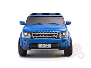 land rover discovery 2 seater kids toddlers ride na track car 12v rubber wheels leather rc blue 35