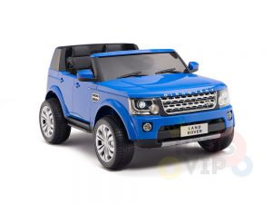 land rover discovery 2 seater kids toddlers ride na track car 12v rubber wheels leather rc blue 6