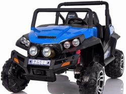 kidsvip utv buggy kids and toddlers ride on 2x12v rubber wheels 2588 blue 4