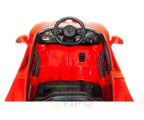 kidsvip ride on kids car 12v toddlers ride on rubber wheels leather seat red 18